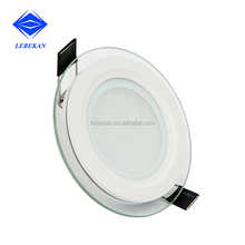 Hot Selling Glass round 6w Ultra Slim recessed Led panel light