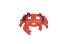 Latex cartoon animal pet toys soft squeaky latex pet toy for dogs crab shape