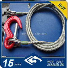 Galvanized Steel Cable Slings With Snap Hook And America Type Turnbuckel