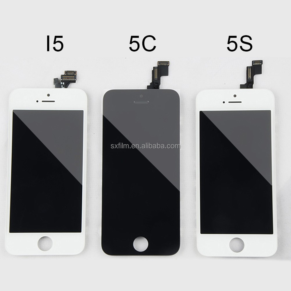 Chinese mobile phone spare parts LCD digitizer touch <strong>screen</strong> replacement for iphone 5S
