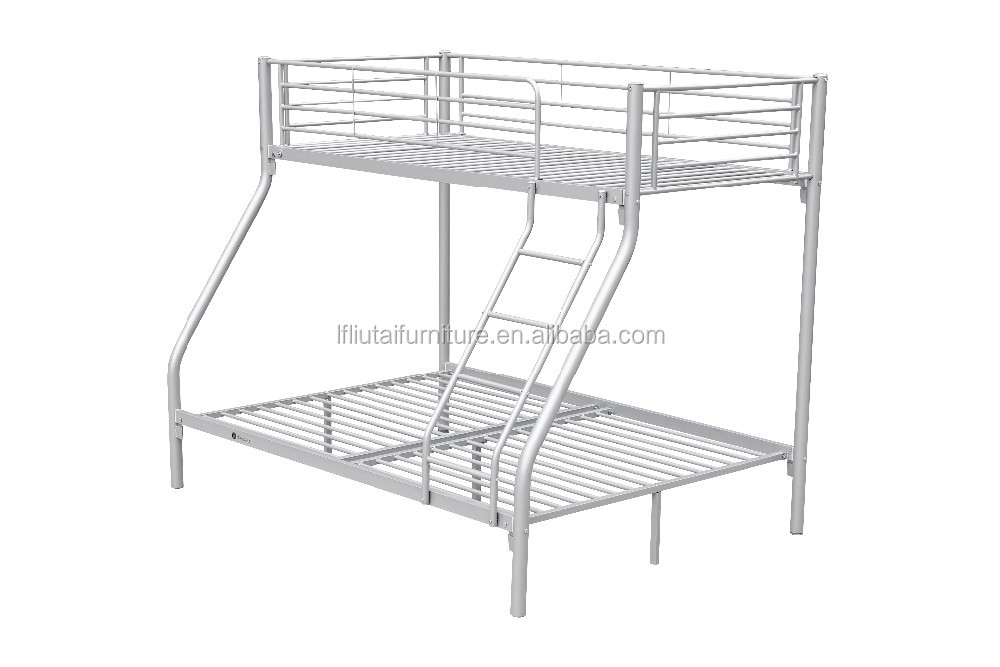 Silver 3 person bunk bed cheap metal triple bunk beds for Cheap metal bunk beds