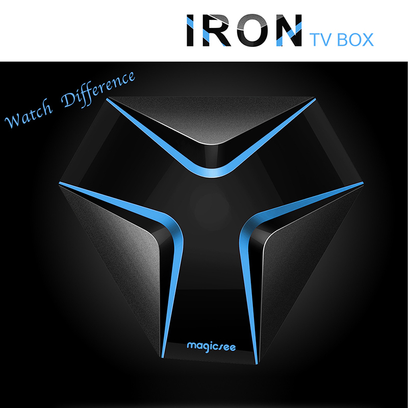 Magicsee Iron Android 6.0 TV BOX Amlogic S905X Quad Core 2GB 16GB Smart TV Box 4K Set Top Box Wifi OTA Update Media Player