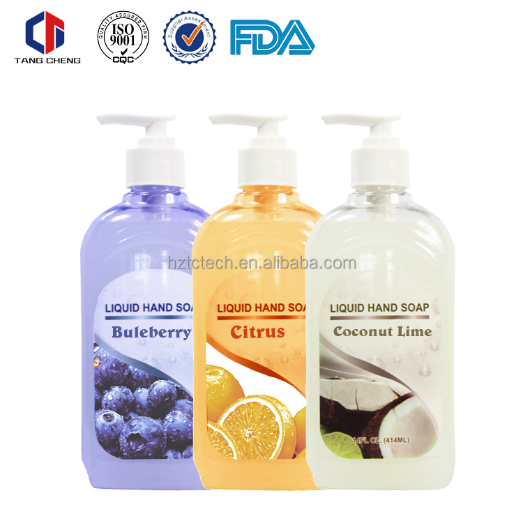 Hot selling chemical ingredients 14oz hand wash liquid soap manufacturer