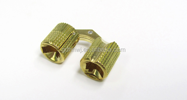 Primary color brass invisible hinge for jewelry box