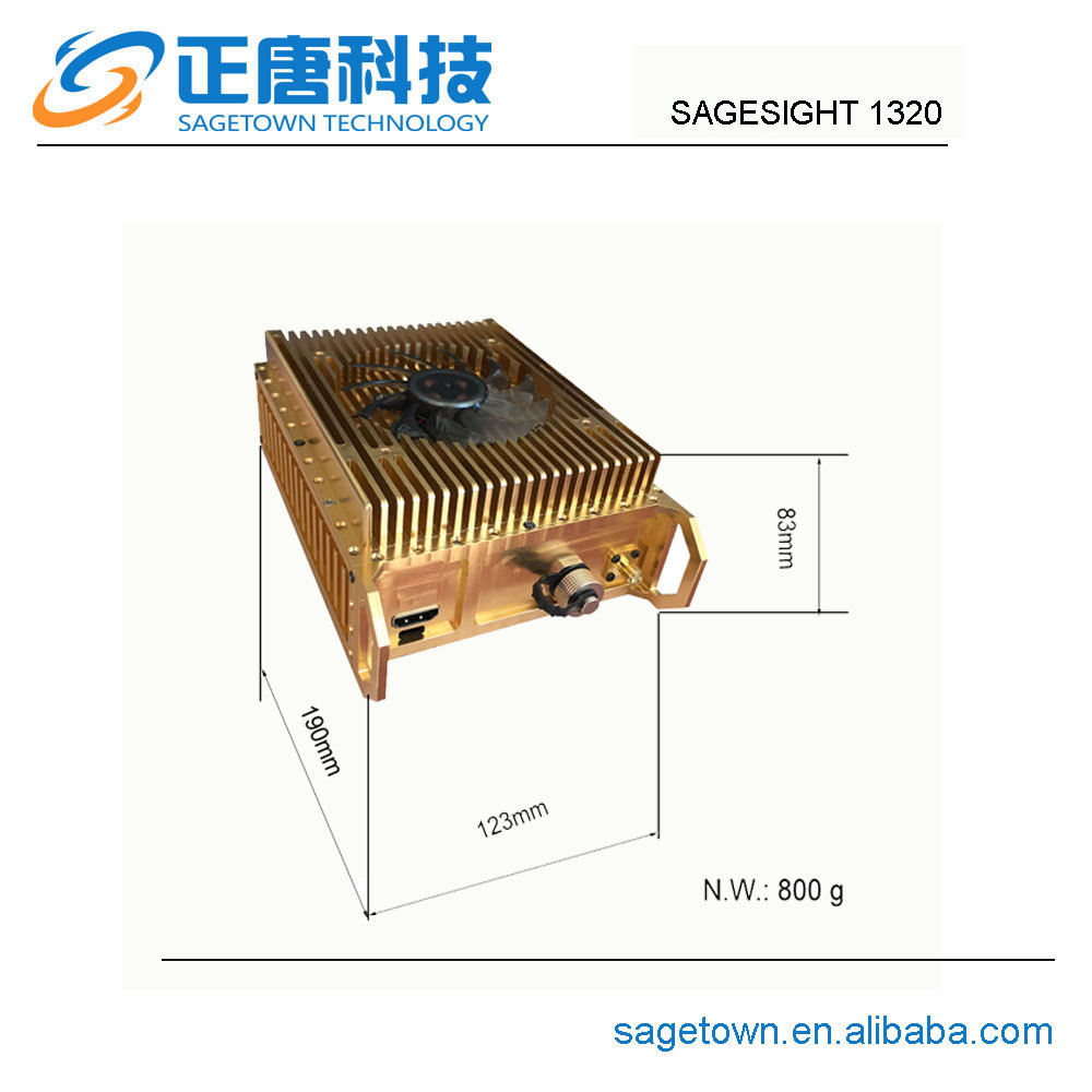 Sagesight 1320 100km long range decoder tv transmitter