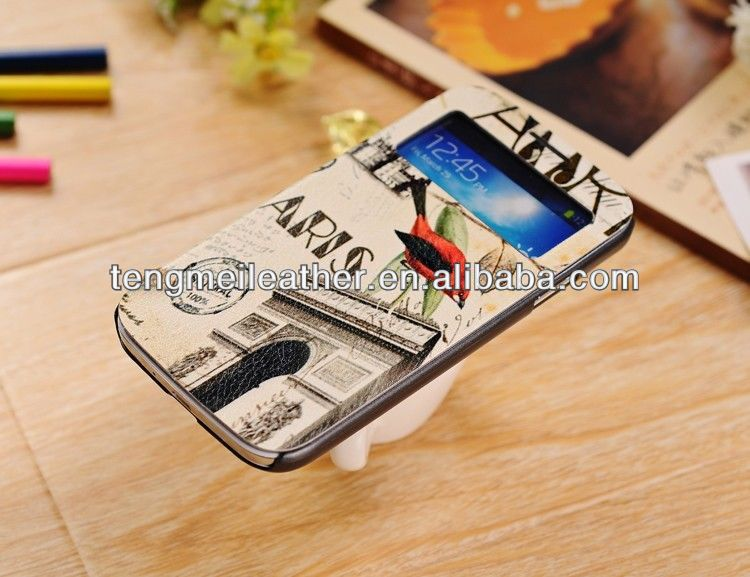 Cartoon cute waterproof case for samsung galaxy s4 mini,wallet leather case for samsung galaxy s4
