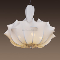 New classical modern chinese style ocean silk cloth crytsal chandelier light