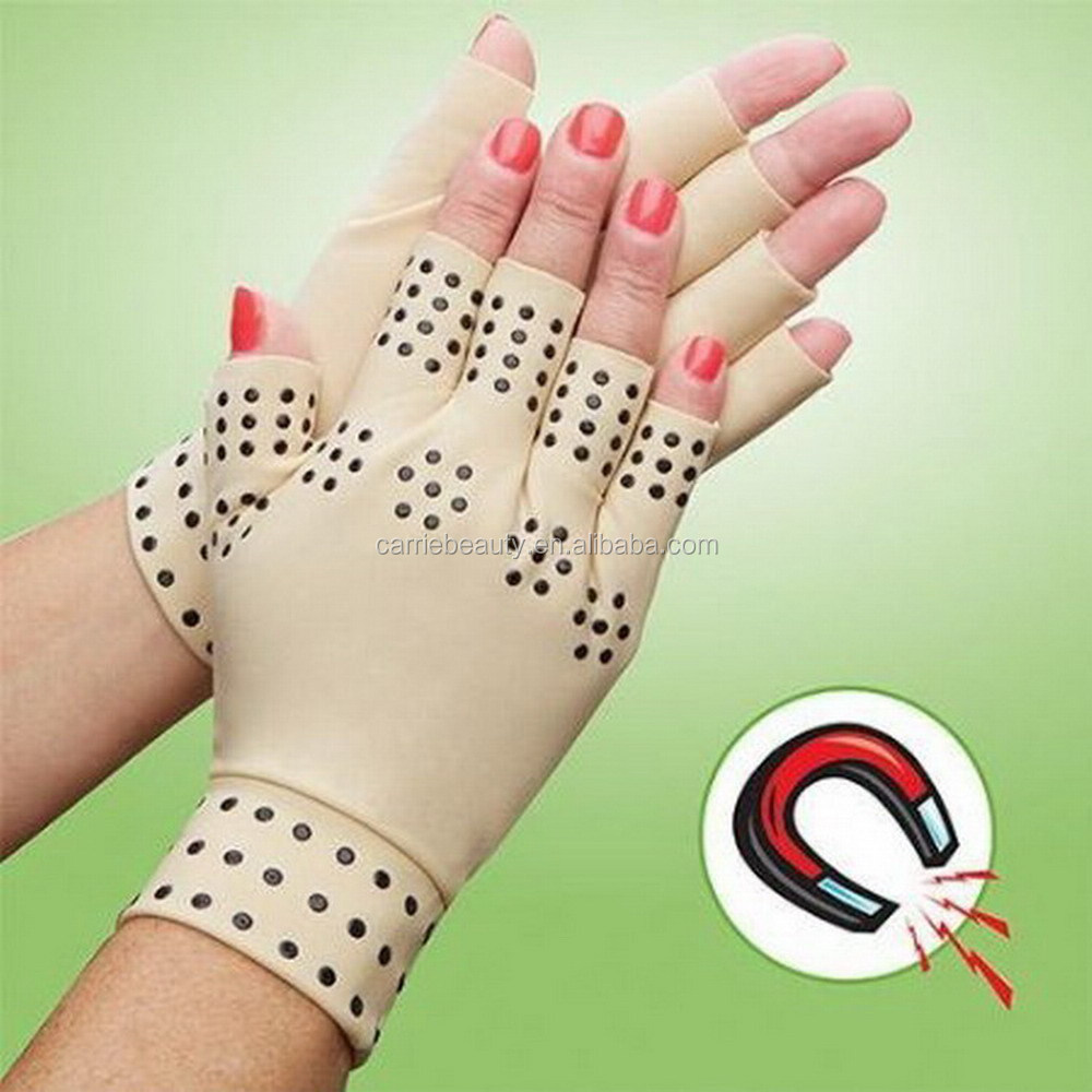 Compression Arthritis Supports Joints Heal Therapy Magnetic Gloves