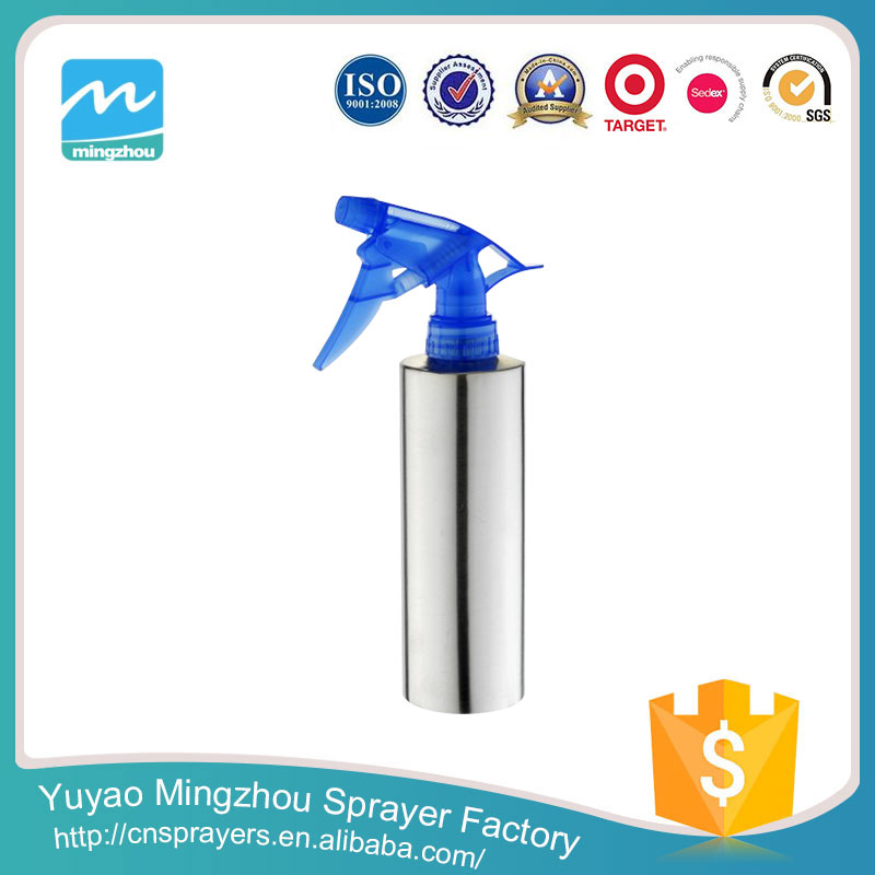 Exporter Supplier Professional Super Quality Made In Alibaba Blue And Silver 400ml Plastic Spray Bottle