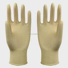 Hair-cut natural latex gloves household latex gloves factory in Jiangsu rubber glove cleaning series for protecting the hand