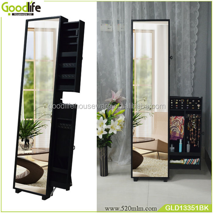 Luxulry jewelry cabinet living room furniture with side sliding door