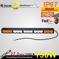 Factory price waterproof 12/24v 150w led curved light bar,12750LM amber led spot/flood lighting,led offroad lamps