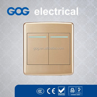 Rounded edges Two gang one way switch, big contact silver, phosphor bronze accessories