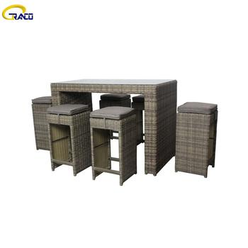 Best price rattan corner garden sofa dining table set set outdoor furniture garden  table