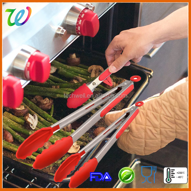 2016 best wholesale silicone bar accessories utensils scissor bbq tongs