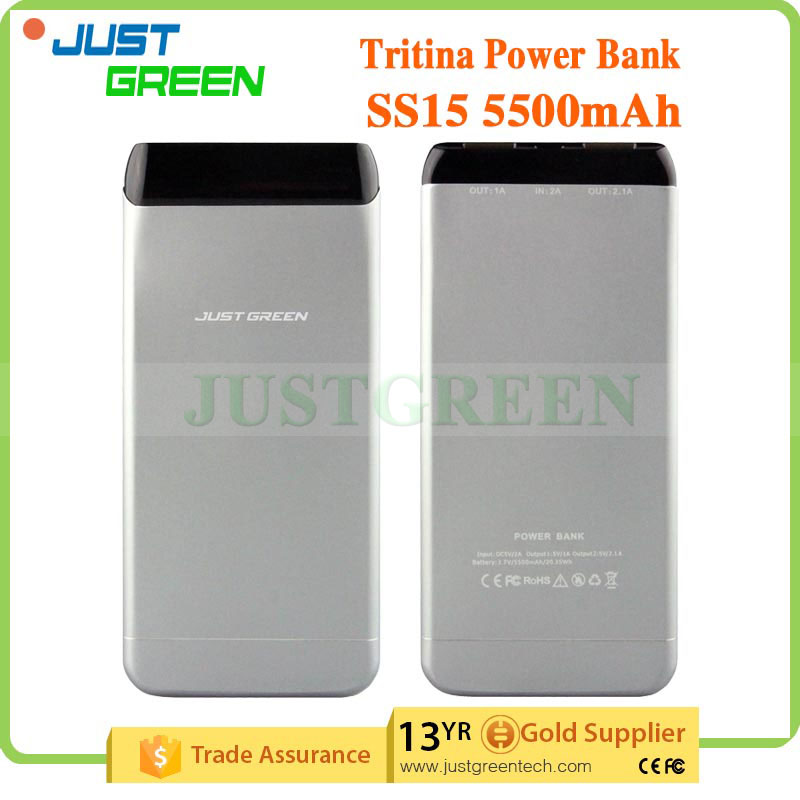 Original Justgreen SS15 5500mAh External Battery Portable travel Charger Universal Mobile Portable Power For Cellphone