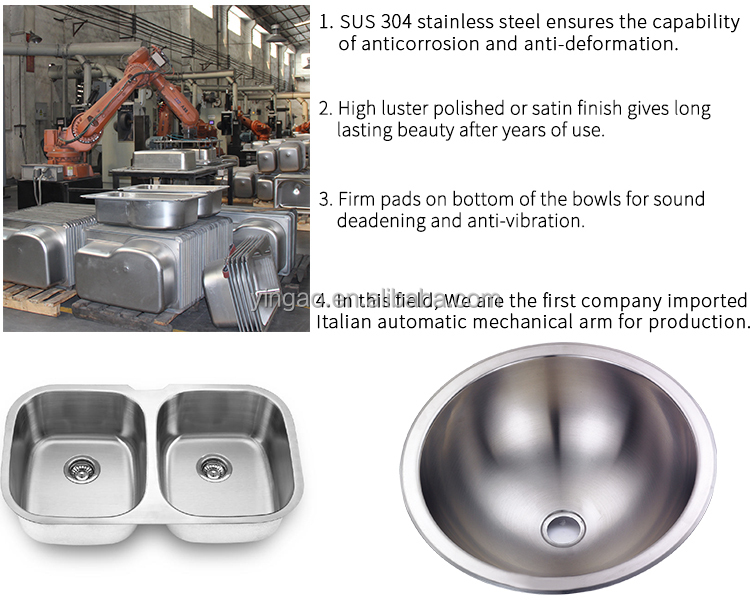 2318 New type stainless steel undermount sinks