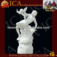 Angel Statue Outdoor Decoration,Angel Stone Sculpture RCO0195B