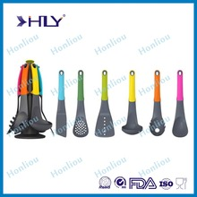 Food grade nylon silicone kitchen utensil /silicone heat-resistant non-stick cooking utensils set/kitchen accessories