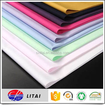 Classic plain Dyeing bamboo shirting fabric with rich color