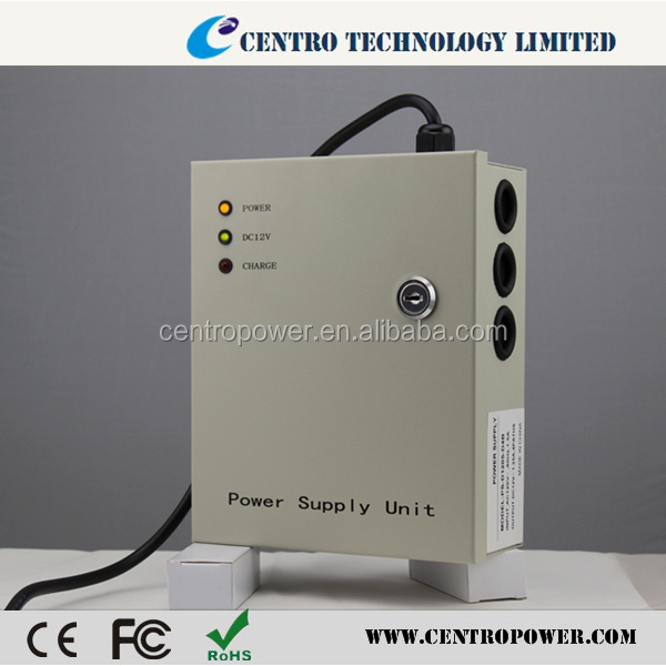 2015 Best price 5A 4CH 12v power supply battery backup