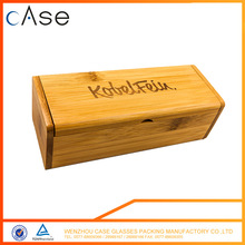 Factory directly provide Fashion design Excellent material bamboo sunglass case