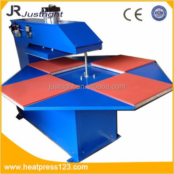 "16*20"" CE approved four stations swing automatic heat transfer press machine Guangdong China"
