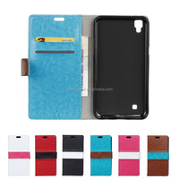 Luxury Wallet Credit Card Book Style Flip Stand Leather Case for LG X style