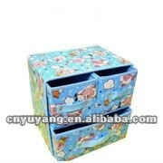 Draw-out type folding fabric cover Storage boxes