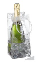 High quality custom pvc plastic wine cooler tote bags transparent pvc ice bag
