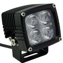 "High Intensity Aluminium Housing Led Work Light Red Square Led Lamp 3"" 36w Led Off Road Work Light"