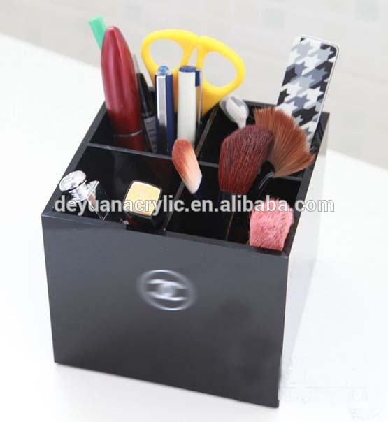 New Black Acrylic Makeup Brush Organizer For Cosmetic