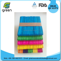 New Colored Natural Wood Popsicle Sticks Wooden Craft Sticks