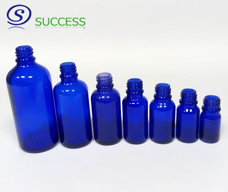 5ml-100ml Blue Glass Essential Oil Bottle with Eye Dropper