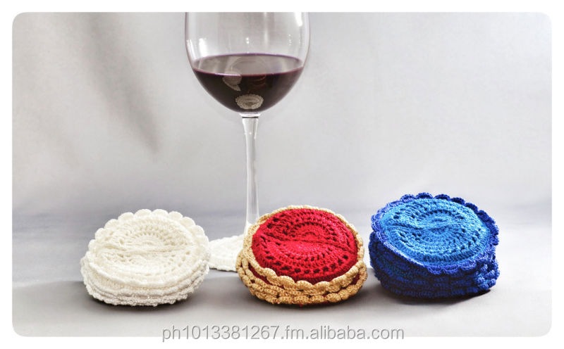 Handmade Wine and goblet coaster