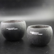 Nice design soy wax scented environmental aromatic concrete candle