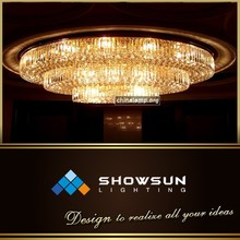 Zhong shan project custom roundness large hotel flush mounts