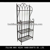 antique folding 4 tier wrought iron book rack