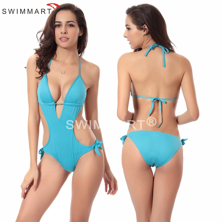 Strappy Push Up One-piece Japanese Swimsuit