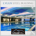 Prefabricated 5 star hotel swimming pool steel structure frame luxury resort hotel