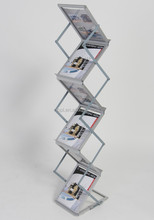 A4 brochure rack free standing acrylic poster holder
