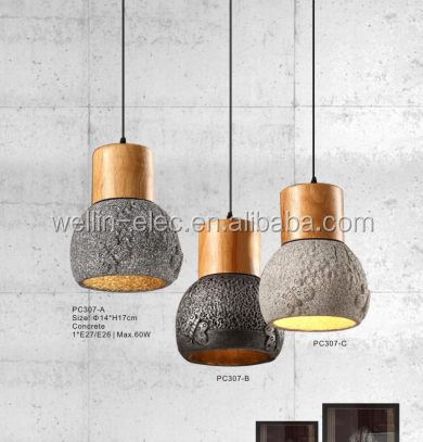 cool/warm white light led chandelier, pendant light, best material fitting used concrete pendant <strong>lamp</strong>