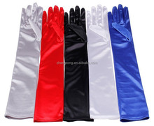 Cheap Fashion Wedding Long Satin Gloves With Stock