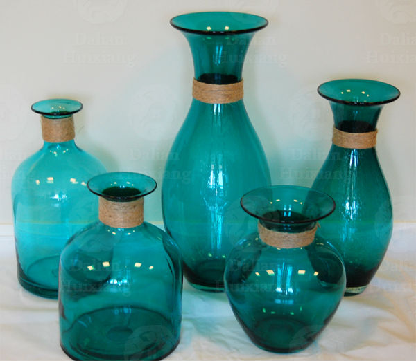 China Wholesale Handblown Cheap Tall Glass Vases with for Home Decor