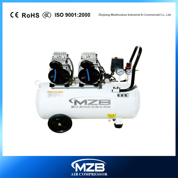 Two Motor Piston Oil Free Direct Driven Quiet Oil free Air Compressor