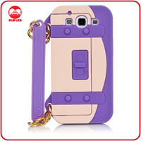 Hot Selling Handbag Design 3D Rubber Cover for Galaxy S3 Silicon Case
