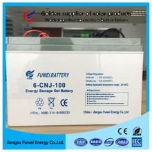 VRLA maintenance free 12V 100Ah agm deep cycle battery for solar energy system