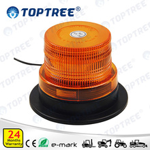 9-110V LED Emergency Flash Strobe Light Amber Rotating Beacon Warning Light for Forklift