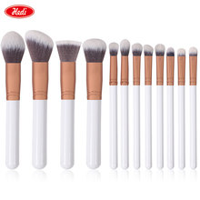 China Manufacturer Private Label 12pcs Rose Gold Professional Makeup Brushes