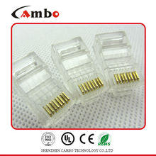 Good price CAT5E/CAT6 Stranded Solid network cable 8P8C unshielded/shielded Gold Plated rj45 bulkhead